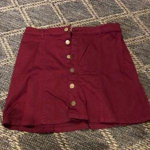 Corduroy maroon skirt